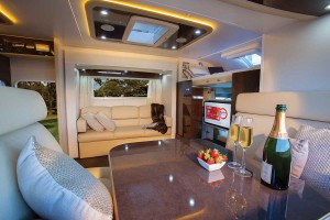 Sunliner Monte Carlo MC3 - opposite slide out walls creates a large living space