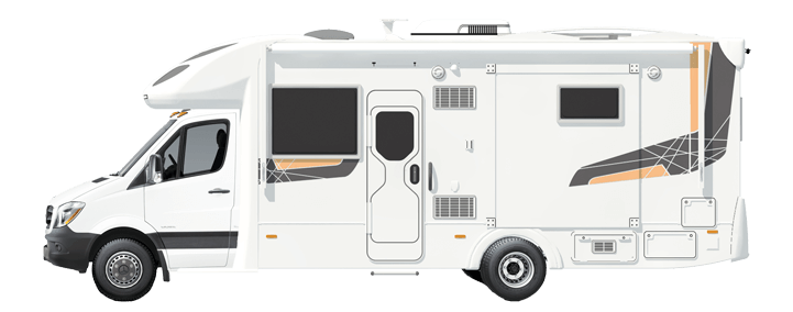 Sunliner motorhome side on view